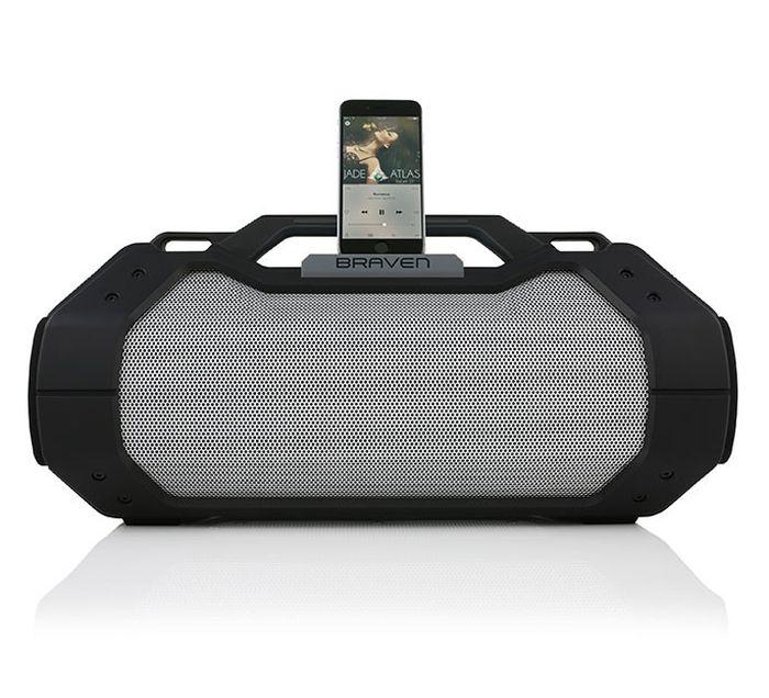 braven brv xxl outdoor bluetooth lautsprecher 15600mah schwarz schwarz grau. Black Bedroom Furniture Sets. Home Design Ideas