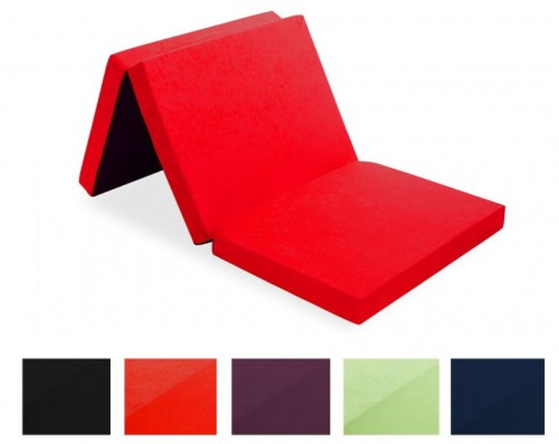 design klappmatratze 195 cm aus schaumstoff inkl tragetasche farbe w hlbar. Black Bedroom Furniture Sets. Home Design Ideas