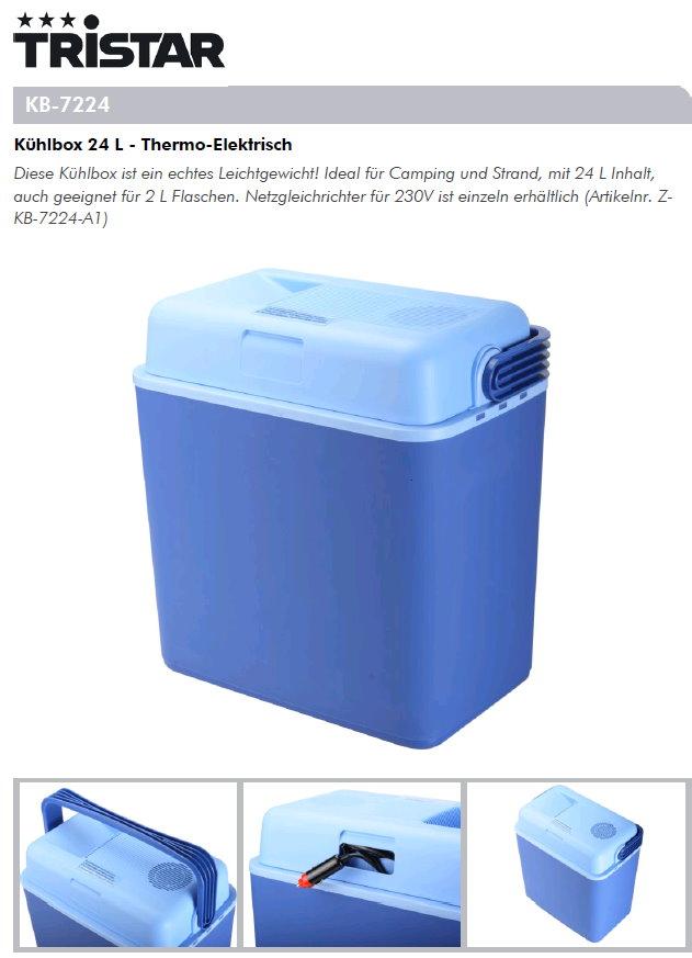 k hlbox 24 l thermo elektrisch kb 7224 8713016072245. Black Bedroom Furniture Sets. Home Design Ideas